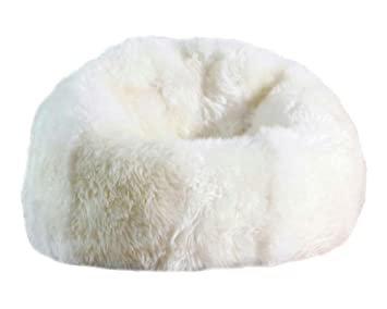 Large Sheepskin Bean Bag Chair Filled