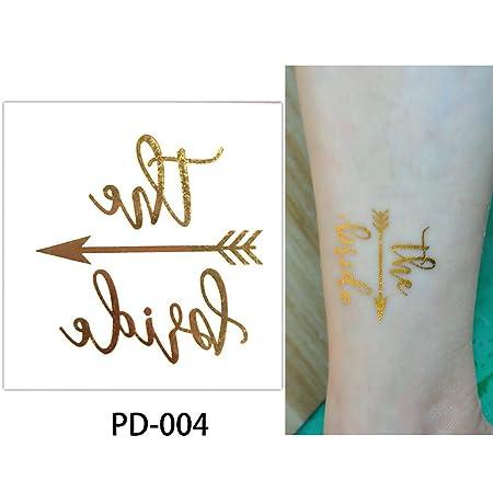 adgkitb Etiqueta engomada Temporal del Tatuaje de la Boda de la ...