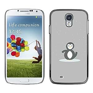 SAMSUNG Galaxy S4 IV / i9500 / i9515 / i9505G / SGH-i337 , Radio-Star - Cáscara Funda Case Caso De Plástico (Cute Minimalist Penguin)