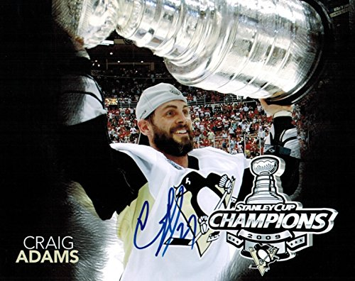 Craig Adams Signed 8x10 Photo Pittsburgh Penguins Autograph COA