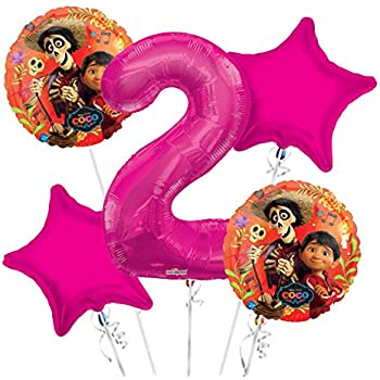 Coco Party Supplies 5th Birthday Balloon Bouquet Decorations