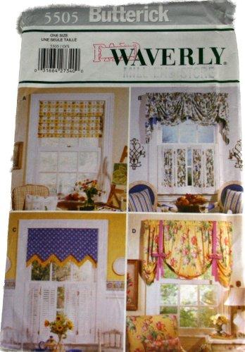 Butterick 5505 Pattern Waverly Window Treatment Size One - Butterick Window Treatment Patterns