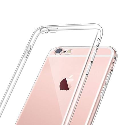 DoubTech Funda Transparente iPhone 6/6S, Cover Silicona ...