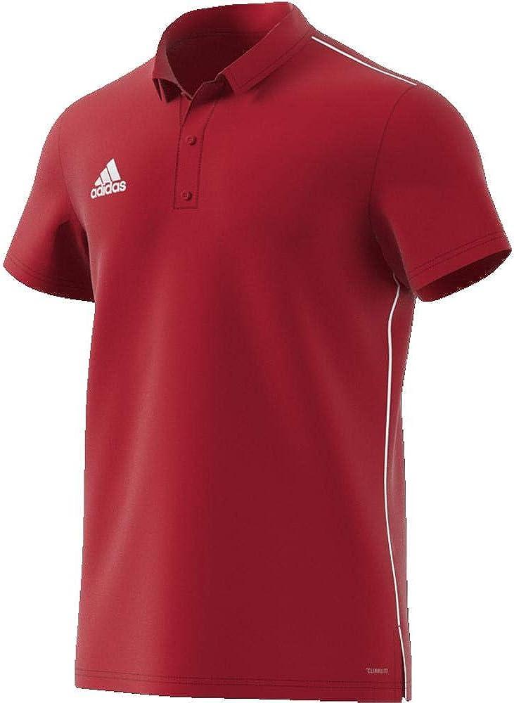 adidas Mens Core 18 Short Sleeves Polo Shirt
