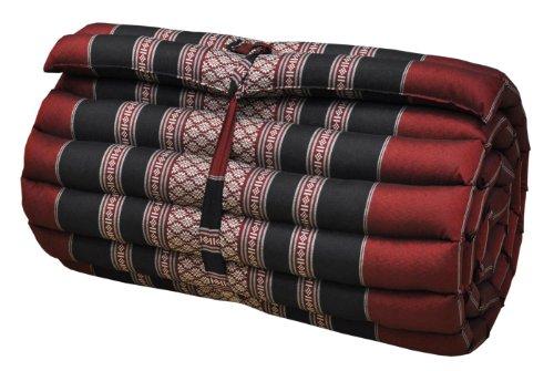 Thai Mattress Roll Up, 21.65 * 63 * 3inch, Kapok, Red, Black by Thai Mattress