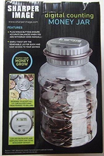 Amazoncom Sharper Image Digital Counting Coin Money Jar Piggy