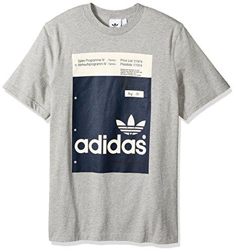 medio Adidas da Grigio uomo shirt T Pantone Heather S Originals IwgxFqE0nv