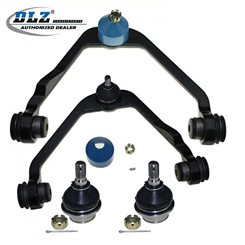 DLZ 4 Pcs Front Suspension Kit-2 Upper Control Arm 2 Lower Ball Joint Compatible with 1997-2002 Ford Expedition RWD 2WD 1997-2003 Ford F150 RWD 2WD 1997-1999 Ford F250 RWD 2WD 1999-2001 Mazda B2500 (Ball Joint Replacement Ford)