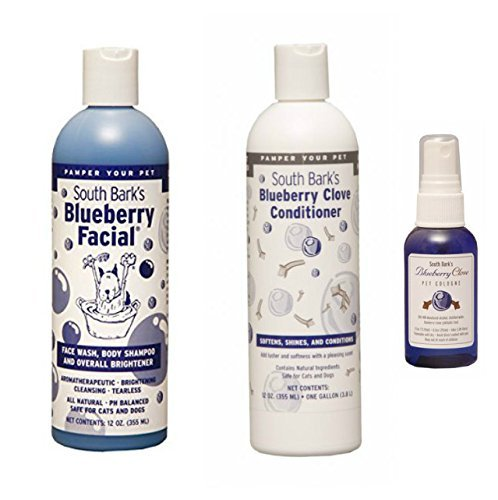 South Bark's Blueberry Facial Shampoo, Blueberry Clove Conditioner, Cologne by South Bark's