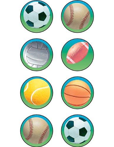 Teacher Created Resources Sports 2 Mini Stickers, Multi Color - Sports Chart Incentive