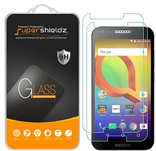 Supershieldz [2-Pack] for Alcatel (A30) Tempered Glass Screen Protector, Anti-Scratch, Anti-Fingerprint, Bubble Free, Lifetime Replacement