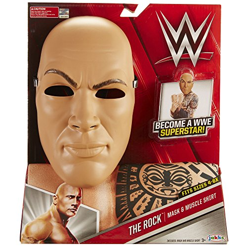 WWE The Rock Mask & Muscle Shirt Dress Up Costume ()