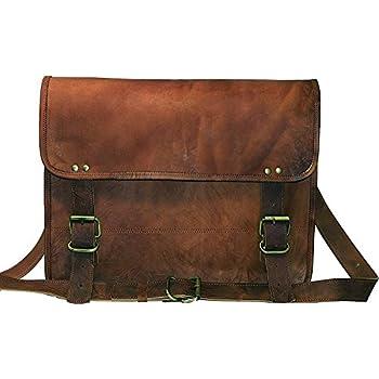 Amazon.com: Jaald genuine Leather Messenger Bag Laptop Briefcase ...