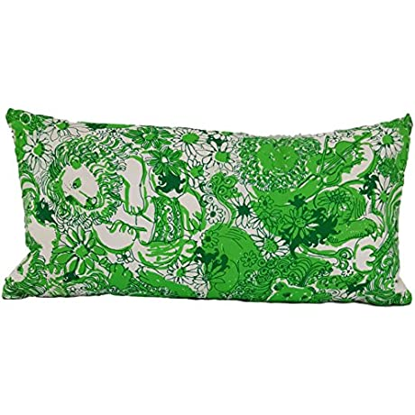 Vintage Lilly Pulitzer Decorative Silk Pillow