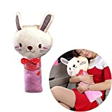 UsHigh Cute Seatbelt Pillow Super Soft Car Cover Cushion Neck and Shoulder Supporter Auto Airplane Home Comfortable Pad