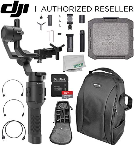 DJI 2019 Ronin-SC Compact Stabilizer 3-Axis Gimbal Handheld Stabilizer (Loki) for Mirrorless Camera Must-Have Bundle - CP.RN.00000040.01