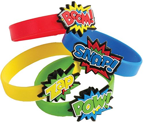 Superhero Rubber Bracelets (24 Pack)