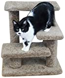 New Cat Condos Solid Wood Pet Stairs - Large - Brown