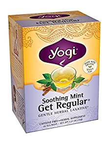 Yogi Teas Soothing Mint Get Regular, 16 Count (Pack of 6)