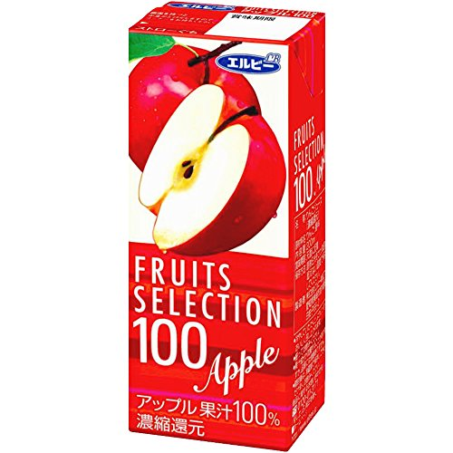 Fruit selection Apple 100%  200ml×24 by Elvey
