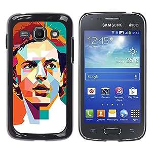 Ihec Tech Polígono Naranja trullo Redhead retro / Funda Case back Cover guard / for Samsung Galaxy Ace 3