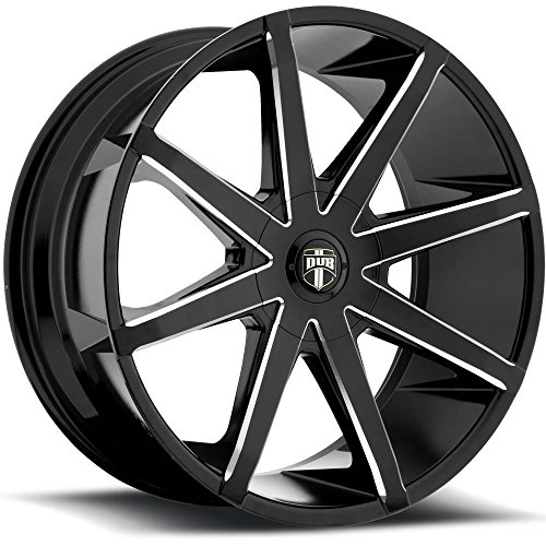 Dub Push 20 Black Milled Wheel / Rim 6x135 & 6x5.5 with a 30mm Offset and a 87.1 Hub Bore. Partnumber S109208597+30 Dub Custom Wheels