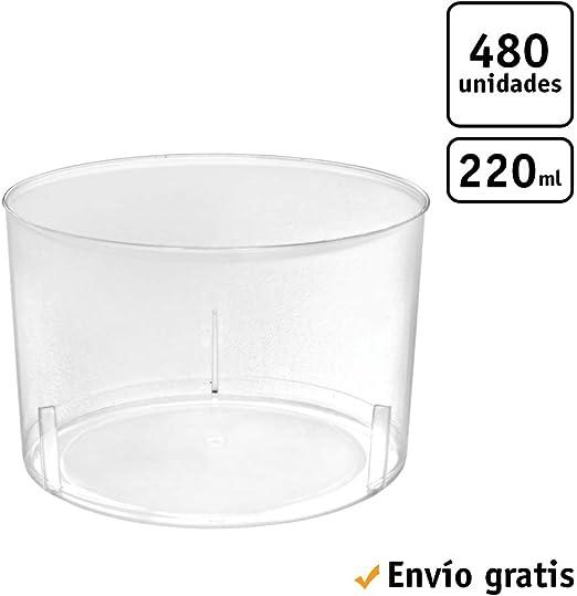 TELEVASO - 480 uds - Vaso Vino Chikito 220 ml - Plástico ...