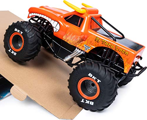 Monster Jam, Official El Toro Loco Remote Control Monster Truck, 1:15 Scale, 2.4 GHz