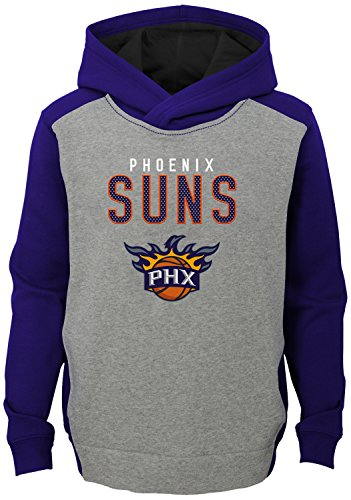 NBA Kids & Youth Boys 'Fadeaway' Pullover Hoodie Phoenix Suns-Grey Heather-L(14-16)
