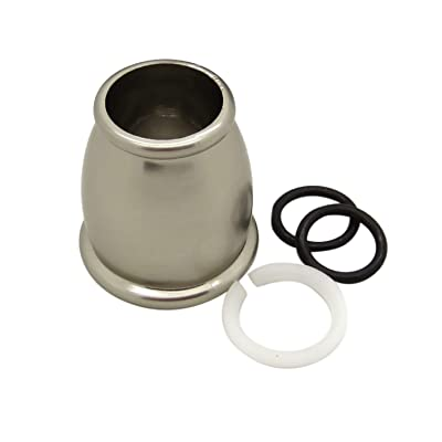 Dura Faucet DF-RK500-SN RV Faucet Bell Style Spout Nut and Rings Replacement Kit (Brushed Satin Nickel): Automotive