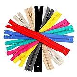 GARNECK 50 Unids Nylon Cremalleras Único Color Mezclado Sastre Cremallera para Coser Artesanía Bolsas de Tela Monedero Prenda de Vestir Sastre Herramienta de Costura