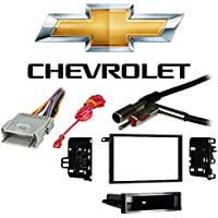 Fits Chevy S-10 Pickup 2002 w/ Factory Double DIN Radio Harness Dash Kit
