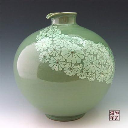 Amazon Korean Celadon Glaze Sgraffito White Chrysanthemum