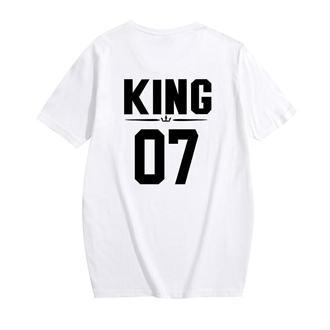 Camisetas Manga Corta Mujer Hombre Camiseta Largas Basica Camisas Anchas Tops Oversize Camisa Cuello Redondo Personalizadas Playeras Señora Top Estampadas ...