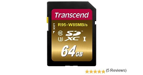 Transcend TS64GSDU3X - Tarjeta de Memoria SDXC de 64 GB (Clase 10 ...