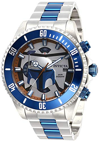 (Invicta Men's Star Wars Quartz Watch with Stainless Steel Strap, Silver, 22 (Model:)