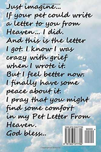My Pet Letter From Heaven forting pet loss message from a pet