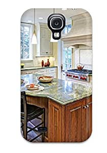 HtnjKdK11812LywcV Case Cover Kitchen Island With Green Countertop And Barstools Galaxy S4 Protective Case