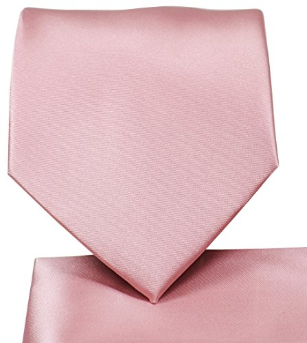 Satin Long Tie - Extra Long Solid Satin Tie and Square Set by Paul Malone
