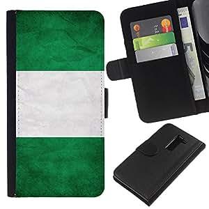 """Be-Star la tarjeta de Cr¨¦dito Slots PU Funda de cuero Monedero caso cubierta de piel Para LG G2 D800 ( Bandera nacional de la Serie-Nigeria"""" )"""