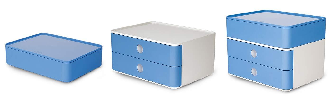 royal blue HAN 1100-14 SMART-BOX PLUS ALLISON Design Schubladenbox mit 2 Schubladen und Utensilienbox