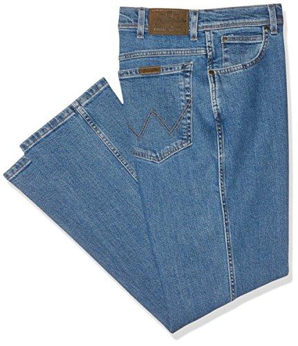 Wrangler Regular Fit, Jeans Dritto Uomo Blu (stonewash)