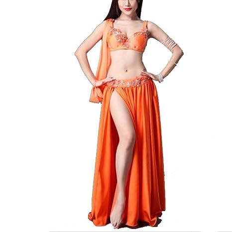 8119b746d411 Disfraz de danza del vientre Falda de mujer Conjunto de rendimiento ...