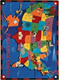 Educational Read Across America Kids Rug Rug Size: 10'9'' x 13'2''