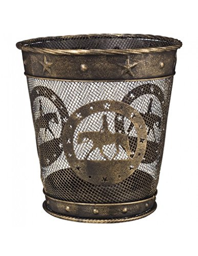Gift Corral Small Waste Basket - English - Black/gold - English (Types Of Gift Baskets)