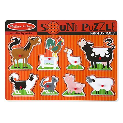 Melissa & Doug Farm Animals Sound Puzzle - Wooden Peg Puzzle With Sound Effects (8 pcs) by Melissa & Doug (Image #6)