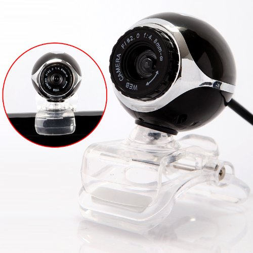 USB 2.0 50.0M PC Camera HD Webcam for Laptop Desktop Black - 1