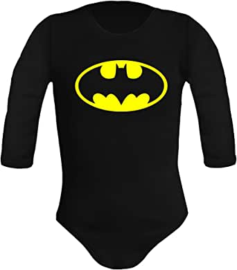 Body bebé unisex Batman. Super héroes. Regalo original. Body bebé divertido. Manga larga