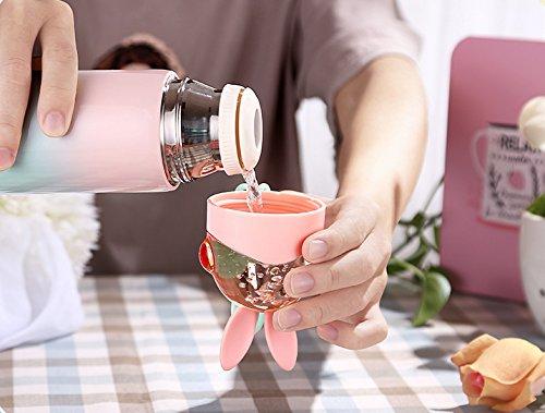 Kids Thermos, Cute Girls Water Bottle (12OZ), Mini Travel Mug, Rabbit Present for Birthday(Green) by klanis (Image #6)