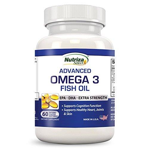 Omega-3 Fischöl - Hochpotent - EPA DHA Softgel-Kapseln - Konzentrierte, 1-Kapsel-Dosis enthält 1000 mg Omega-3-Fettsäuren - Hergestellt in den USA in GMP-zertifizierter Einrichtung - geruchsneutral - magensaftresistente Beschichtung